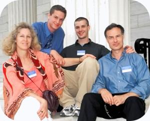 The Gottliebs: Randie, Jordan, Jonathan, Steve