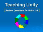 Teaching Unity PPT #4 Review