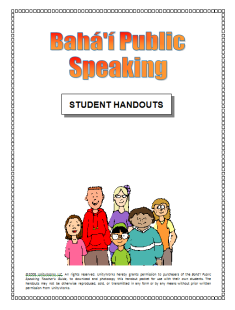 Bahá'í Public Speaking Handouts