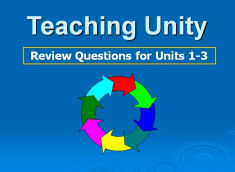Teaching Unity Power Point 4 Review