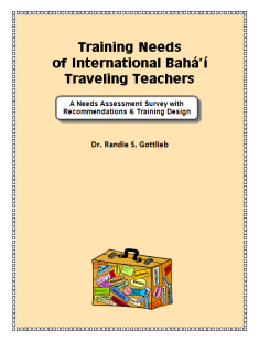 Training Needs of International Bahá'í Traveling Teachers
